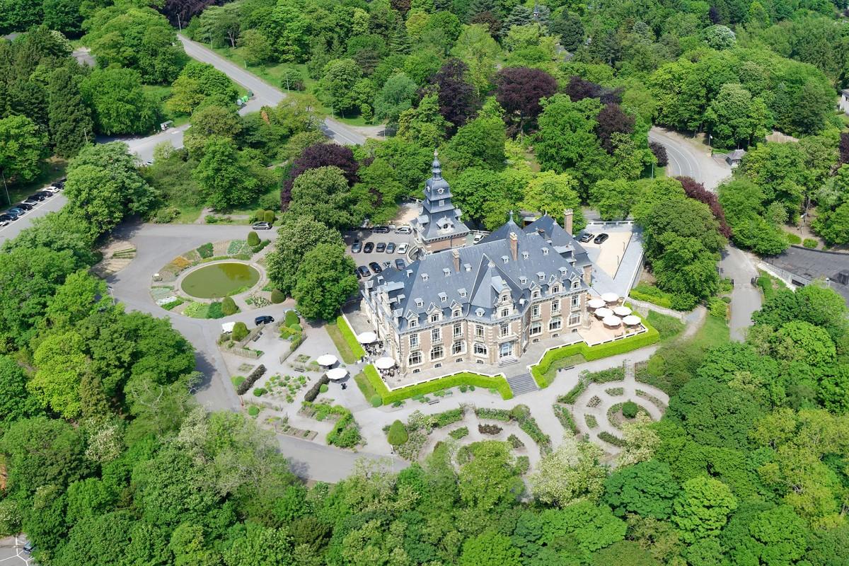 Château de Namur - Vue aérienne site