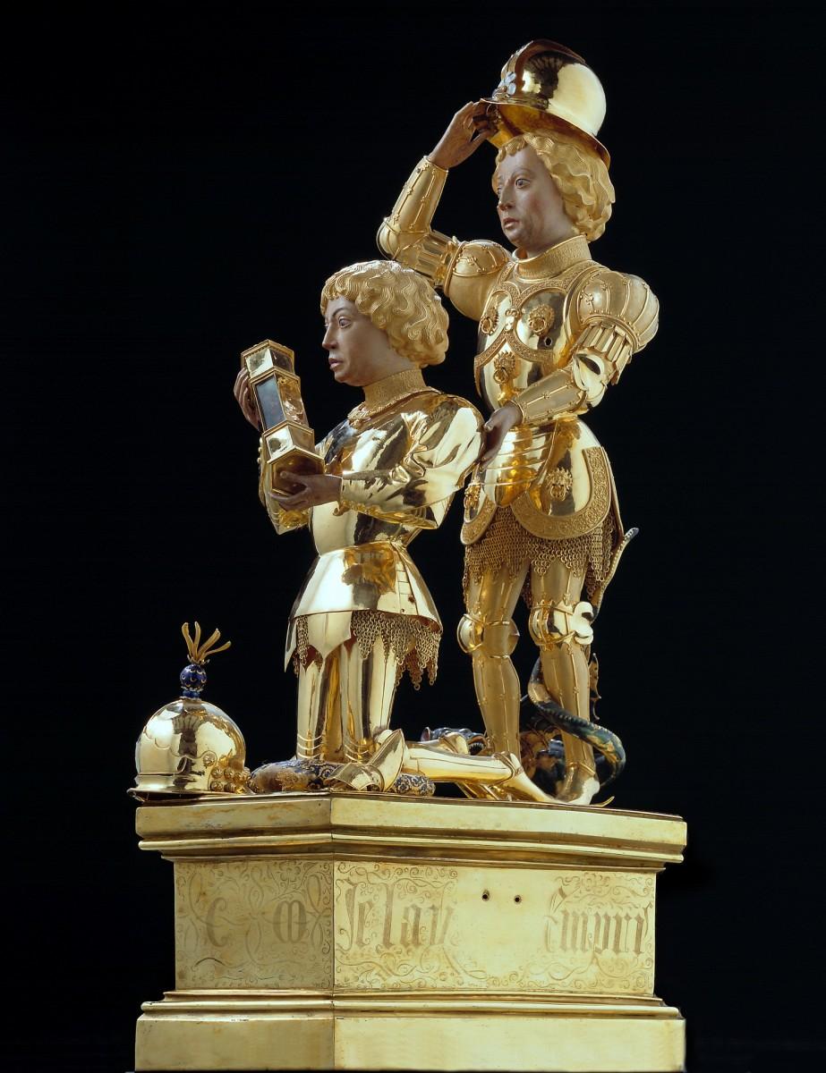 Trésor de la Cathédrale de Liège museum - Reliquary of charles the Bold