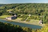 Château et Jardins de Freÿr - Hastière - Vue aérienne du domaine