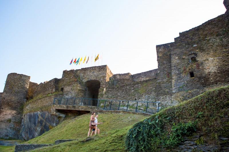 Castle ruins of la Roche-en-Ardenne