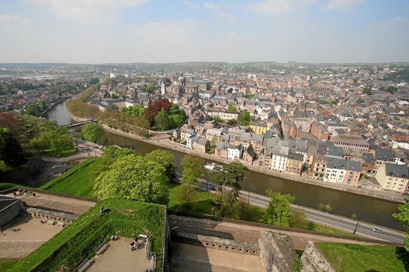 Citadelle de Namur - Vue aérienne site