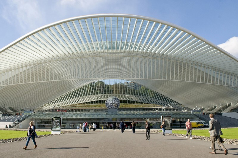 The Liège-Guillemins train station